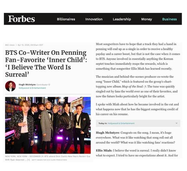 Ellis Miah BTS Forbes DIY Public Relations